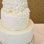 Hochzeitstorte mit Hortensie aus Zucker