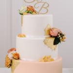 Torte in apricot-rosé-gold