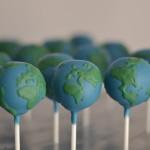 Weltkugel Cake Pops